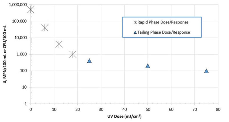 Figure 5. Two Phase UV Dose Response Kinetics