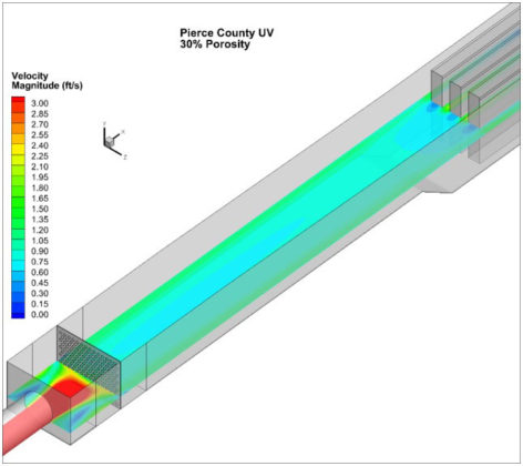 Figure 7. CFD Modeling Pierce County Washington Approach Hydraulics